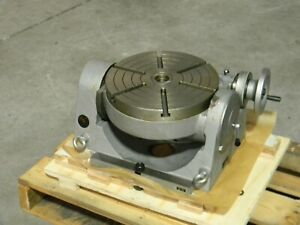 Phase Ii Precision Tilting Rotary Table 12 Diameter 4mt Center Taper 222 412