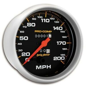 Autometer 5156 Pro Comp Mechanical Speedometer 200 Mph 5 Inch