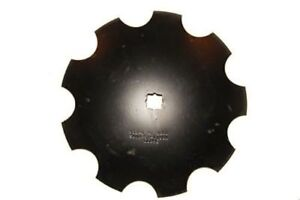 18 Notched Disc Harrow Blade Scalloped Heavy Duty 1 Or 1 1 8 Sq Stamped Hole