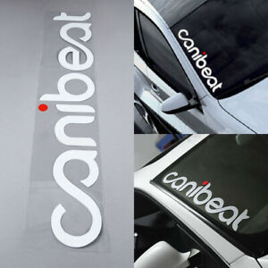 Reflective Hellaflush Canibeat Car Front Windshield Window Decal Sticker Decors