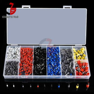 1200pcs set Assorted Crimp Terminals Insulated Electrical Wiring Connector Kits