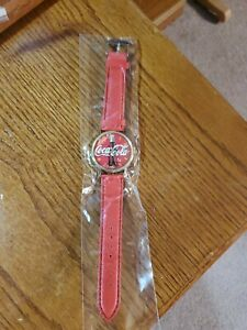 Coca Cola watch with vintage coke bottle face Red Band