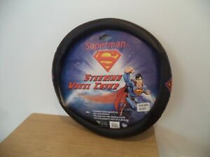 New Superman Classic Car Truck Steering Wheel Cover Covers Pads