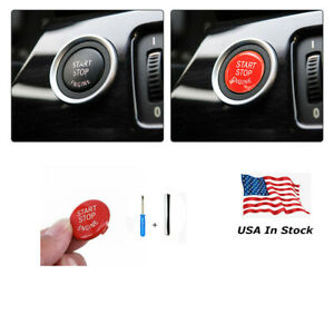 Red Engine Start Stop Push Button Replace Cover For Bmw 3 5series E90 E92 E60 X5