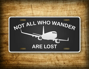 I D Rather Be Flying License Plate Airline Pilot Aviation Jet Airplane Tag