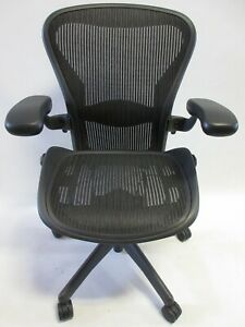 Herman Miller Aeron Chair Size B Fully Adjustable In Excellent Condition