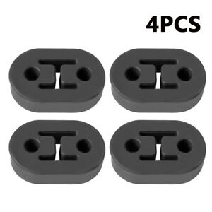 4pcs Rubber Car Exhaust Insulator Muffler Bracket 2 Hole 12mm 0 47 Universal