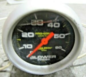 Autometer Pro comp Liquid Filled Blower Gauge Excellent