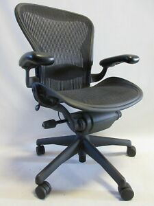 Herman Miller Aeron Chair Size B With Fixed Arms Excellent Condition