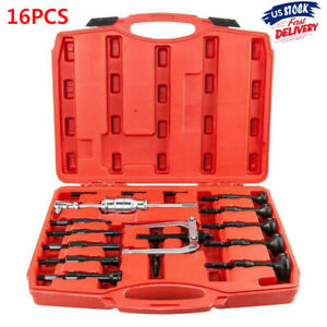 16pc Inner Bearing Blind Hole Remover Extractor Puller Set Pilot Bushes Housing