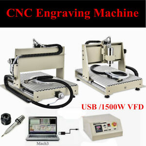 1 5kw Usb 3 Axis 6040t Cnc Router Engraver Engraving Machine Woodworking Diy