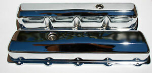 Oldsmobile Tall Chrome Valve Covers Stamp Steel 307 330 350 403 400 425 455