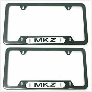 Mkz License Plate Tag Frame Cover Holder Stainless Steel Caps For Lincoln Mkz