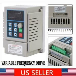 Single Phase Output Frequency Converter Vfd Speed Controller 220v 0 75kw