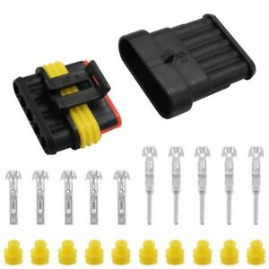 5 10 20 Kit 5pins Way Car Auto Sealed Waterproof Electrical Wire Connector Plug
