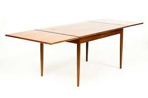 Danish Modern Mid Century Teak Dining Table Rectangular Draw Leaf Am Mobler