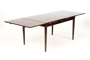 Danish Modern Mid Century Rosewood Dining Table Draw Leaf Axel Christiansen