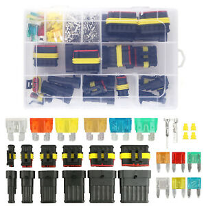 Waterproof Car Auto Electrical Wire Connector Plug Kit 1 6 Pin Way Blade Fuses
