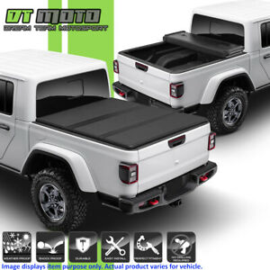 2020 Jeep Gladiator Jt Pickup 5ft 60 Bed Hard Tri fold Style Tonneau Cover