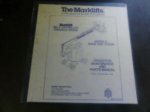Marklifts 30kb And 30kbn Knuckle Boom Operation Maintenance Parts Manual