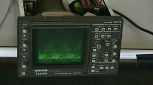 Leader Vector waveform Monitor 525 Lines 5872a as Is