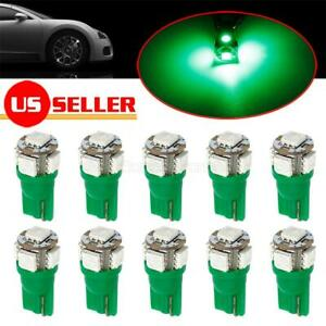 10x Green Interior Light 5050 5 smd Led T10 194 168 921 Lamps For Dodge For Ford