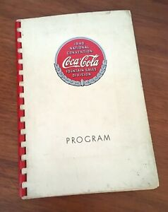 Coca-Cola 1940 National Convention Fountain Sales Program Atlanta GA Cardboard