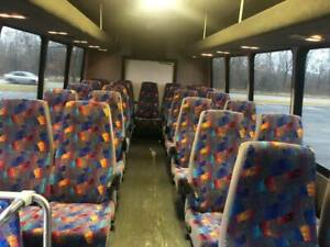 Like New Shuttle Bus Seats Grey With Rainbow Accents Seats All Hardware