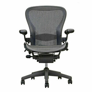 Herman Miller Aeron Chair Size B In Excellent Condition Fully Adjustable