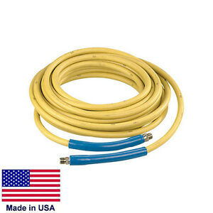 Pressure Washer Hose Commercial 100 Ft 4 000 Psi 3 8 Fittings