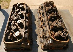 Pair Of 454 Gm 1 Chevy Cylinder Heads Casting 14092360 Date Codes M208 E0404