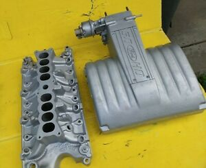 87 93 Ford Mustang Gt 5 0 302 Intake Manifold Plenum Upper Lower Oem