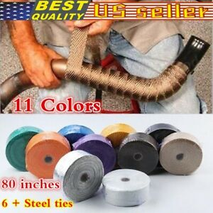Car Motorcycle Exhaust Manifolds Fiberglass Heat Insulation Tapes Thermal Wrap