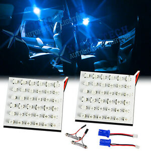 2x Ice Blue 36 smd Led Panel Lamps For Car Interior Map Dome Cargo Area Lights