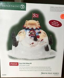 Dept 56 Coca-Cola Sliding Hill North Pole Series 56851