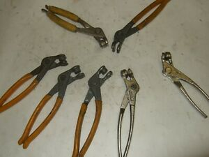 Lot Of 8 Cleco Pliers Tool Installing Temporary Fastener Aircraft Sheet Metal