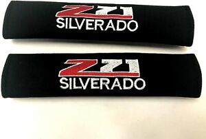 Pair Embroidery Chevy Z71 Silverado Seat Belt Cover Shoulder Pad Cushion Racing