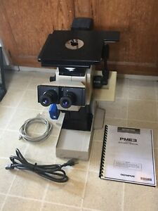 Olympus Pme3 Metallurgical Inverted Microscope Usb 2mp Camera Software Lab Ready