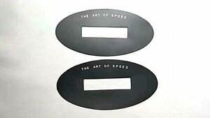 2x Genesis Art Of Speed Oval Letter For Genesis Coupe