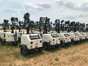 Lot Of 28 2018 Terex Rl 4 Light Tower And 6 Kw Diesel Generator