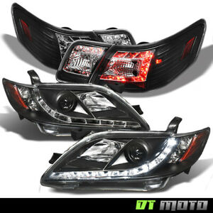 For Black 2007 2009 Camry Led Projector Headlights Led Tail Lights Lamp