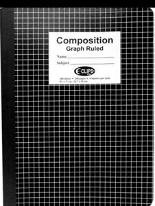 Graph Paper Notebook Lot Of 2 Graph Rule 100 Sheets Per Book 4 Sq Per In 9x7 New