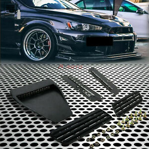 Fit For 08 Lancer Evo X Ralliart Gts Car Hood Bonnet Vent Duct Flat Matte Black
