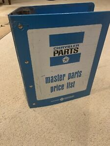 Mopar Master Parts And Price List Dodge Chrysler Motors Great Condition
