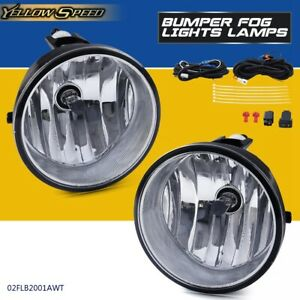 For 2005 2011 Toyota Tacoma Bumper Fog Lights Driving Lamps Bulbs Complete Kit
