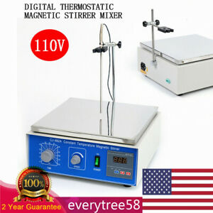Digital Constant Tem Magnetic Stirrer Mixer W hotplate Magnetic Heating Timing