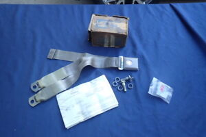1967 68 Ford Seat Belt Kit Parchment Nos Galaxy Mustang Fairlane