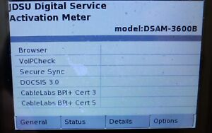 Jdsu Dsam 3600b Cable Tester W 3 0 Docsis Secure Sync Voipcheck