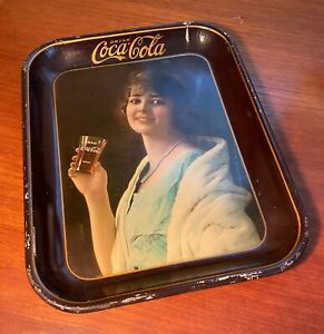 Coca Cola 1923 Flapper Party Girl Metal Serving Tray