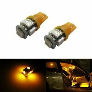 5 smd 168 194 2825 T10 Led Car Interior Map Dome Light Bulbs Amber Yellow